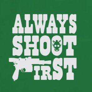 Always shoot First - Stofftasche / Beutel Rot