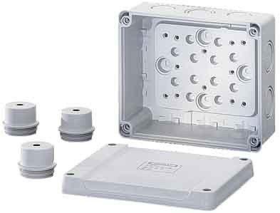 Hensel Kabelabzweigkasten K 9060 bis 6qmm 3ph. 10qmm Dose, Gehäuse für Montage auf der Wand/Decke 4012591600077 von Hensel - Lampenhans.de