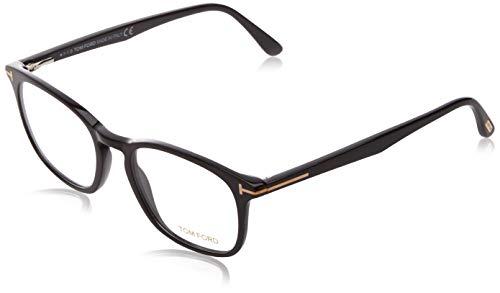 Tom Ford Unisex-Erwachsene Ft5505 Brillengestelle, Schwarz (NERO LUCIDO), 52