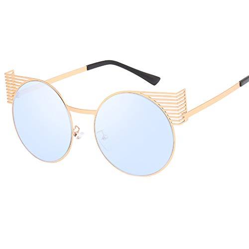 POIUDE Retro Sonnenbrille Damen Klassische Runde Polarisierte mit UV400 Schutz Polarisiert mit...