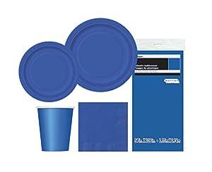 Unique Party- Party Kit, Color azul rey, pack de 1 (63830)