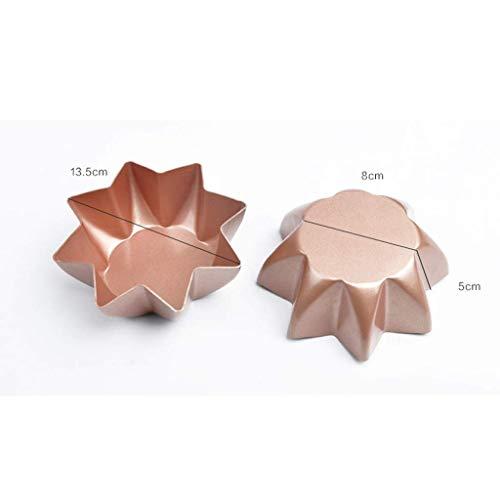 WANNA.ME Backform | Kuchenform Kreative Achteckige Form Aluminium antihaft Stern Brotform Ofen Golden Antihaft Haushalt Multifunktionale West Point Form (Farbe: Silber)