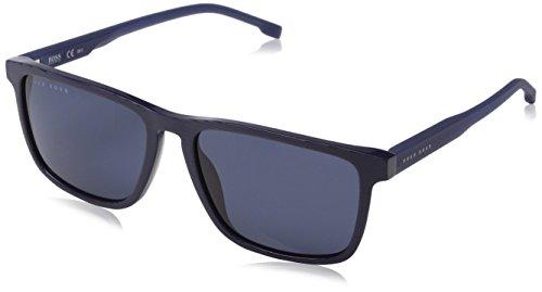 BOSS Hugo Herren 0921/S KU AVS 55 Sonnenbrille, Blau (Striped Blue)