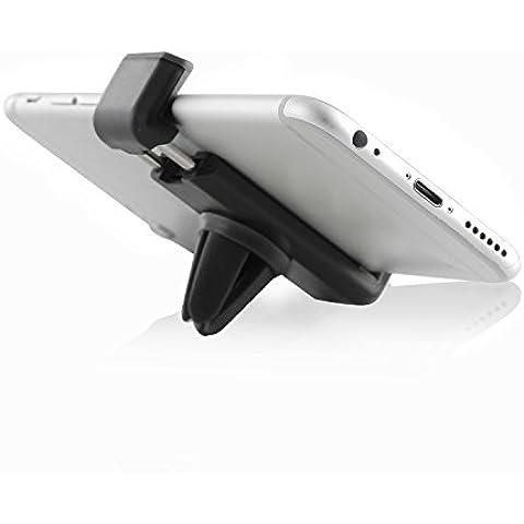 Ewent EW1276BL Supporto Auto per iPhone, Smartphone Android, Telefoni Cellulari e Navigatori da Auto, Nero
