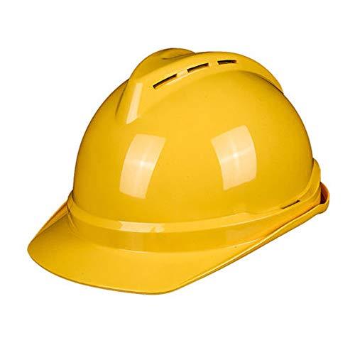 CXQBYNN Schutzhelm, ABS-Lüftungsbau-Leitstudie, Bauingenieur-Arbeitsschutzhelm (Color : Yellow)