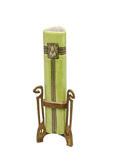 Vase aus Porzellan und Bronze im Jugendstil Antik-Stil grün 25cm