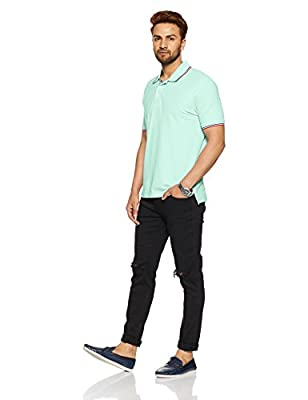 Marks & Spencer Men's Solid Regular Fit Polo