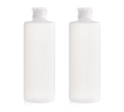 Pack of 2 400ml(13.3oz) Transparent Empty Travel Refillable PE Plastic Soft Tubes Bottle Emulsion Packing Case Make up Cosmetics Container For Facial Cleanser Shampoo Cleanser Shower Easy to Squeeze (400ml)