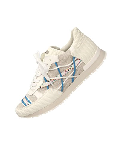Scarpe Sneakers L4K3 LAKE Unisex Mr BIG Neoprene BIANCO Lino Corde Blu (44 EU)