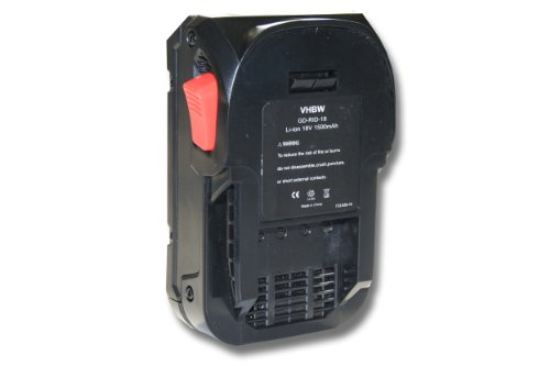 vhbw Li-Ion Akku 1500mAh (18V) für Elektro Werkzeug Ridgid 130383001, 130383025, 130383028, R840084 wie AC840084.
