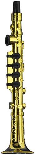 Forum Novelties Gold Klarinette Party Kazoo Spielen Musikinstrument (Flöte Instrument Kostüm)