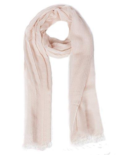 HSHIA Seide Schals Stolen Weiches Gefühl und Leichten Schal Wrap Geeignet für Alle Jahreszeiten Schal Strand Lange Schal Stola Das Ideale Geschenk für Frauen 7 Farben(rosa) (Seide Kopf Binden)