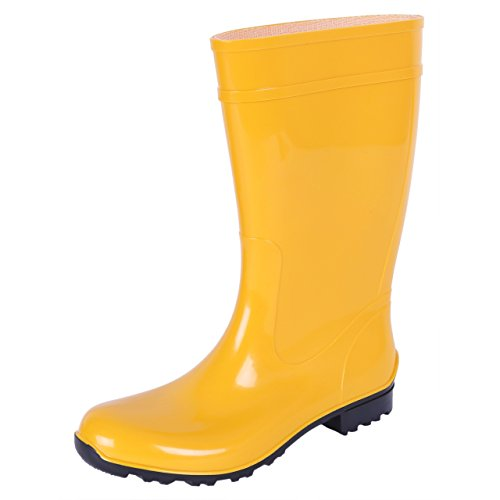 Lemigo Ladies, Yellow, PVC, Wellies, Wellington, Rain Boots ILSE