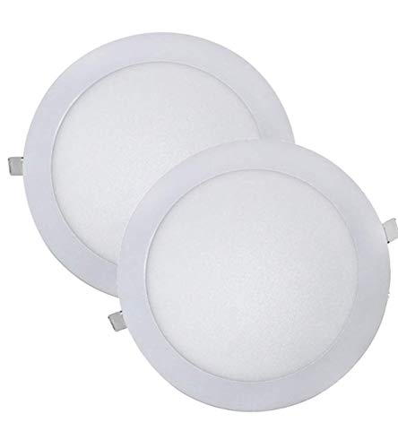 LED ATOMANT, S.L. Pack 2X Downlight Led Panel Extraplano Redondo, Iluminacion 18...