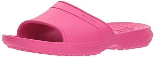 Crocs classic slide kids 204981-6x0, sandali a punta aperta unisex-bambini, rosa (candy pink), 37/38 eu