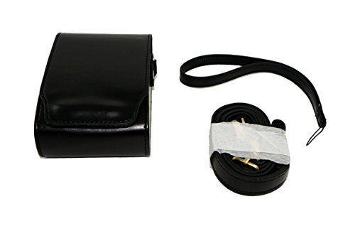 Camera Cuoio Custodia protettiva in Borsa compatibile per Nikon COOLPIX S7000 con spalla Neck Strap Black Belt