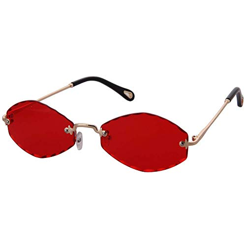3f2047c06d OGOBVCK Sin montura de gafas de sol gafas de colores transparentes de color  caramelo para hombres