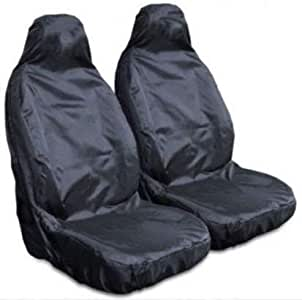 2 x Fronts For Mercedes Citan 1+1 Heavy Duty Grey Waterproof Car Seat Covers