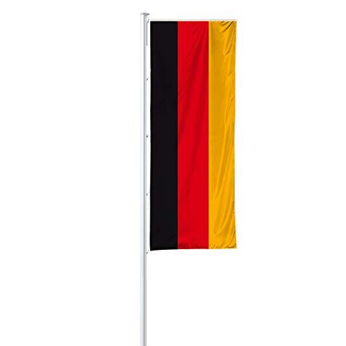 Vispronet® Nationalfahne 150x400 cm für Ausleger ✓ in Deutschland produziert ✓ versch. Materialien ✓ Hochformat (Premiumqualität, Deutschland)