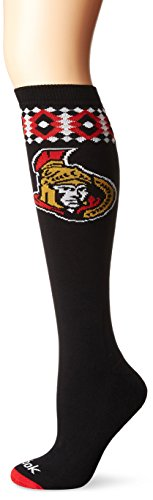 NHL Damen-SP17Diamant Knie Hohe Socken, schwarz, Einheitsgröße -
