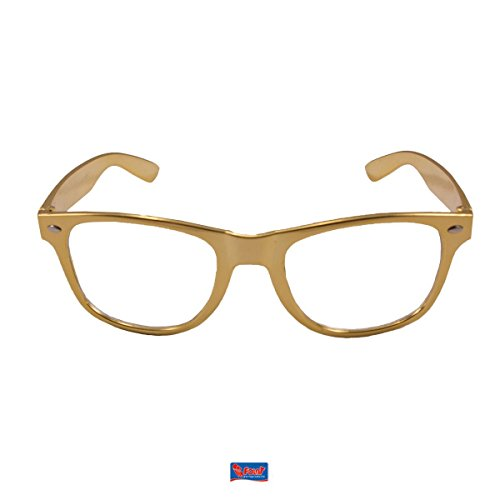 Folat Sonnenbrille Party Blues Brothers Gold -