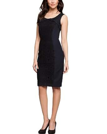 Comma Damen Kleid (mini) Regular Fit 81.402.82.2804 KLEID KURZ, Gr. 34, Blau (5997 indigo)