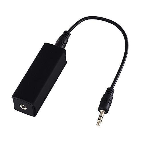 AMANKA Audio Entstörfilter,Ground Loop Noise Isolator Auto Radio Entstörer Noise Filter Noise beseitigt, für Bluetooth Car Audio/Heim Stereo/Bluetooth - Lautsprecher/PC usw -