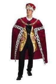 Karnevals-Kostüm KÖNIG ROT, (Und Krone Kostüm König Robe)
