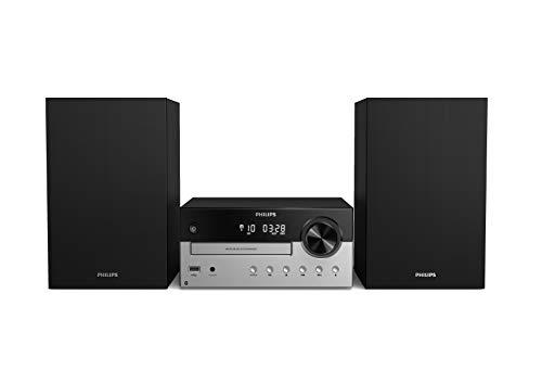 Oferta de Philips M4205/12 Minicadena de Música con CD y USB y Bluetooth (Radio FM, MP3-CD, Entrada de Audio, Puerto USB para Carga, 60 W, Altavoces Bass Reflex, Control Digital del Sonido) - Modelo 2020/2021