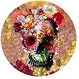 Gorgeous Flowers Sugar Skull Farbe bedruckt Mousepad rund rutschfeste Gummi-Maus Pad Gaming Maus Pad