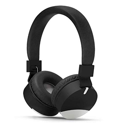 Gaming Headset Over-Ear-Gaming-Kopfhörer mit Mikrofon-Geräuschunterdrückung, Soft Memory-Ohrenschützer Over-Ear-Kopfhörer for Gaming (Color : Black) 20 Booster Kabel