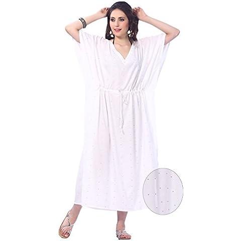 La Leela todo 1 señoras camisa dormir rayón cóctel túnica bordada cubrir la parte superior vestidos época traje baño cordón camisones profunda maxi larga noche caftán vestido mujeres cuello kimono