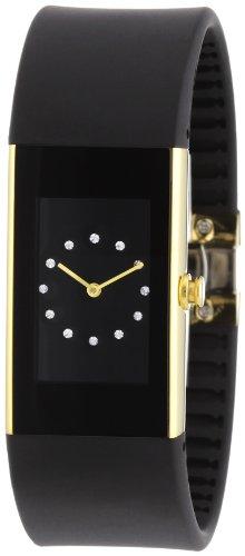 Rosendahl II 43186 - Reloj de caballero de cuarzo, correa de goma color negro
