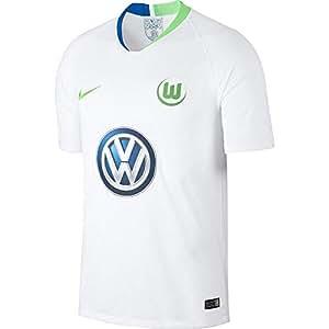 Nike Herren VFL Wolfsburg Breathe Stadium Away T-Shirt, White/Green Strike, S
