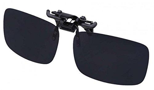 WODISON Unisex Rechteck polarisierte Klipp auf Klapp-Sonnenbrille für Brillen im Freien und Fahren (Schwarz)