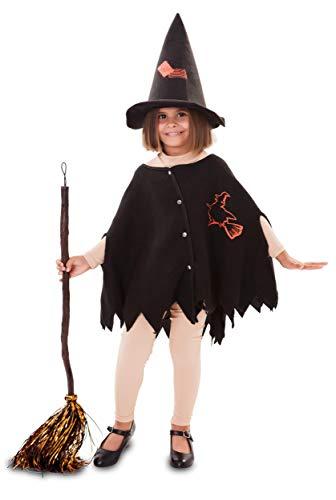 Enter-Deal-Berlin Kinder Mädchen Kostüm Kleine Hexe Größe 92-104 cm ( 3-4 Jahre )