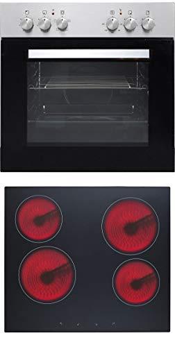 PKM BIC5 I GK-IX3H Einbauherdset Edelstahlblende Kochfeld Glaskeramik
