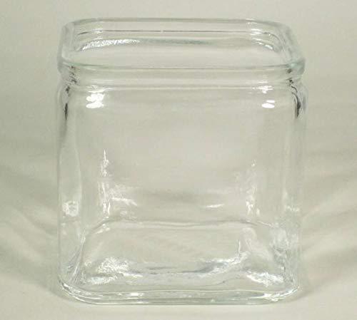 INNA-Glas Set 12 x Teelichthalter Sean, Würfel - viereckig, klar, 10x10x10cm - Kerzenhalter - Kerzenglas