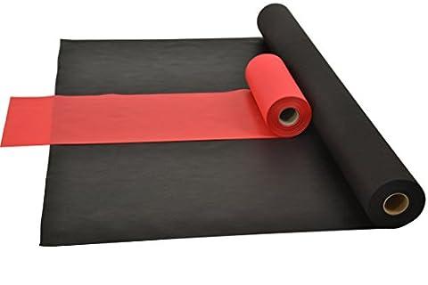 Sensalux Kombi-Set 1 Tischdeckenrolle 1,2m x 25m + Tischläufer 30cm (Farbe nach Wahl) Rolle schwarz Tischläufer