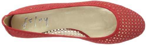 French Sole FS/NY Women's League Ballet Flat,Red,10 M US Red