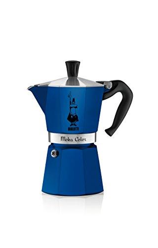 Bialetti - 2043 - Moka Color - Cafetière Italienne en Aluminium - 6 Tasses - Bleu