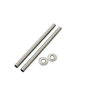 Arroll Pipe Shroud Kit Brushed Nickel 18 x 300mm 2 Pack