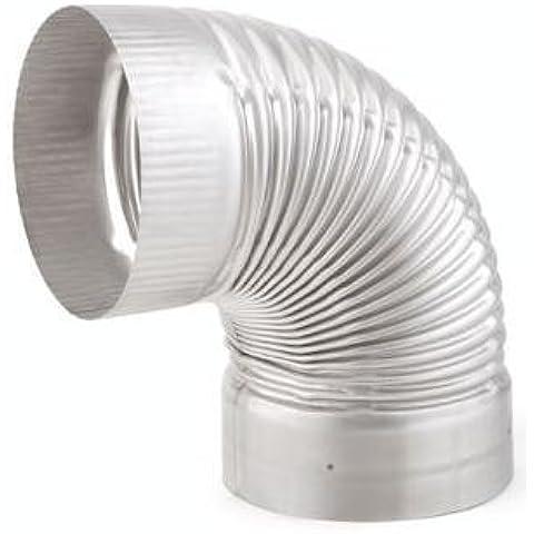Chimenea ahorradores 21855 calor-fab tubo - situ 304-SS - 20,32 cm 90 Degree Elbow