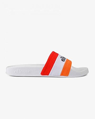 Ellesse Borgaro, Sandalias de Punta Descubierta para Hombre, Multicolor Orange/White/Red Org/Wht/Red...