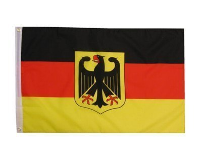 Hochwertige Deutschland Fahne Flagge mit Bundesadler 150 x 90 cm 2 Ösen