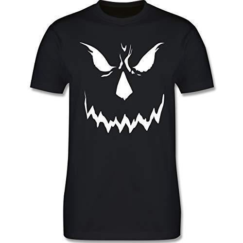 (Halloween - Scary Smile Halloween Kostüm - L - Schwarz - L190 - Herren T-Shirt Rundhals)