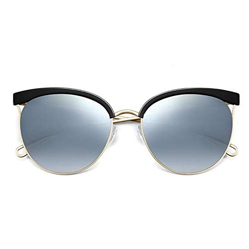 WFHhsxfh UV400 Cat Eye Glasses Polarized Sonnenbrille Damen Sonnenbrille mit rundem Gestell. Brille