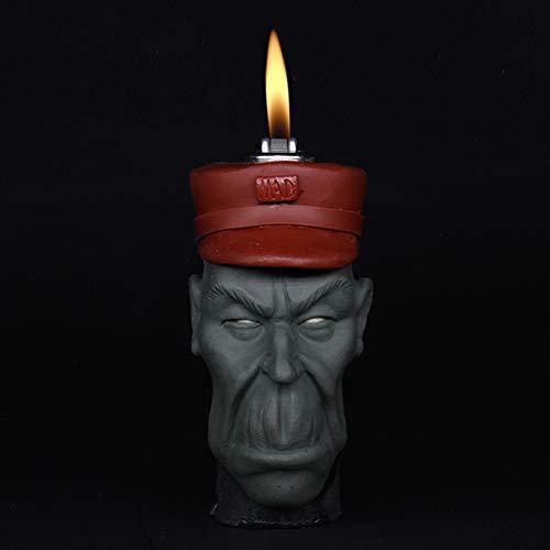 Schwarzes gesicht Leichtere Kreativ Persönlichkeit Rad Feuerstein und stahl Porenbeton] Feuer maschine Freund senden Halloween Geschenk-A