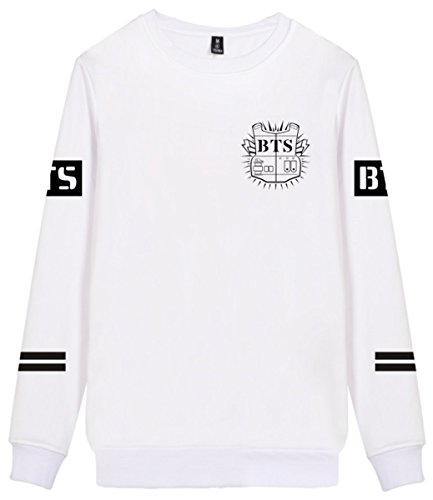 SERAPHY cappuccio invernale BTS Felpe con Cappuccio a collo rotondo Bangtan Felpa Suga Jin Jimin Jung Kook J-Hope Rap-Mostro V bianca-95-V