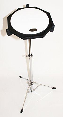 10 Zoll Drum Übungspad Gummi mit verstellbaren Ständer, Practice Pad